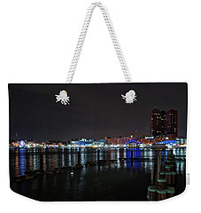 Weekender Tote Bag featuring the photograph The Harbor View by Mark Dodd