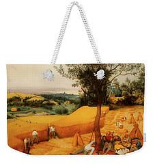 Weekender Tote Bag featuring the painting The Harvesters by Pieter Bruegel The Elder