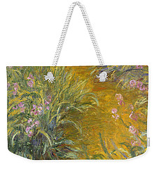 The Path Through The Irises Weekender Tote Bag by Claude Monet