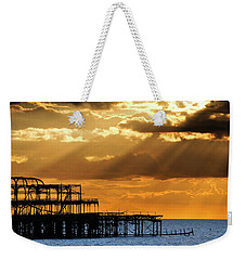 The West Pier In Brighton At Sunset Weekender Tote Bag