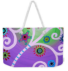 Weekender Tote Bag featuring the painting Tree Of Life by Pristine Cartera Turkus