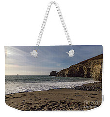 Weekender Tote Bag featuring the photograph Trevellas Cove Cornwall by Brian Roscorla