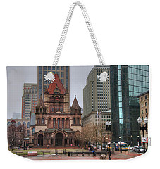 Weekender Tote Bag featuring the photograph Trinity Church - Copley Square - Boston by Joann Vitali