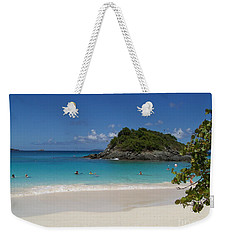 Weekender Tote Bag featuring the photograph Trunk Bay by Carol  Bradley