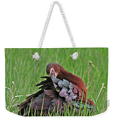 White-faced Ibis Weekender Tote Bag