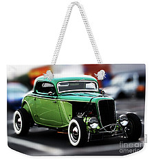 Weekender Tote Bag featuring the photograph 3 Window 1933 Ford Coupe by Baggieoldboy