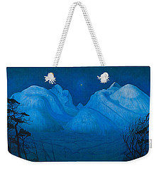 Winter Night In The Mountains Weekender Tote Bag
