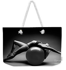 Woman On A Ball Weekender Tote Bag