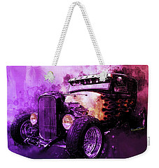 31 Ford Model A Fiery Hot Rod Classic Weekender Tote Bag