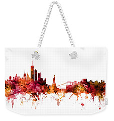 New York Skyline Weekender Tote Bag