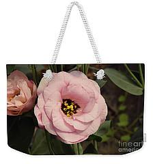 Pink Flowers Weekender Tote Bag by Elvira Ladocki