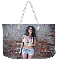 Weekender Tote Bag featuring the photograph .. by Traven Milovich