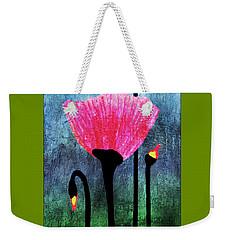 32a Expressive Floral Poppies Painting Digital Art Weekender Tote Bag