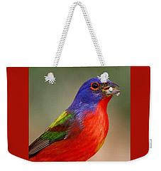 Painted Bunting Weekender Tote Bag