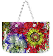 33a Abstract Floral Painting Digital Expressionism Art Weekender Tote Bag