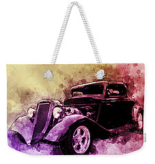 34 Ford Three Window Coupe Pen And Ink Watercolour Weekender Tote Bag
