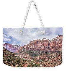 Zion Canyon National Park Utah Weekender Tote Bag