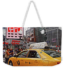 Weekender Tote Bag featuring the photograph 34th Street New York City by Joan Reese