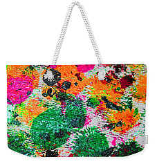 Weekender Tote Bag featuring the photograph 3.5 Oil Squash 1970s by Tom Janca