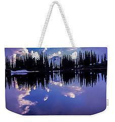 35mm Scan Of Image Lake And Glacier Peak Weekender Tote Bag