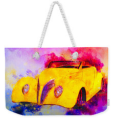 37 Ford Roadster Yellow Watercolour Weekender Tote Bag