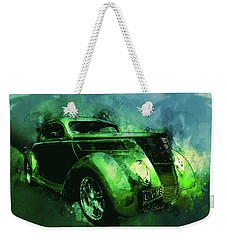 37 Ford Street Rod Luv Me Green Meanie Weekender Tote Bag