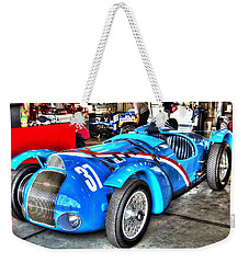Delahaye Fast From The Front Weekender Tote Bag