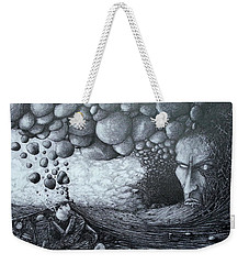 Weekender Tote Bag featuring the drawing No Title by Mariusz Zawadzki