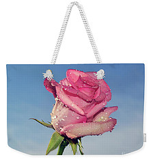 Nice Rose Weekender Tote Bag by Elvira Ladocki