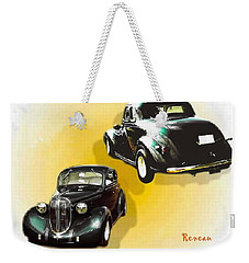 Weekender Tote Bag featuring the photograph '38 Plymouth by Sadie Reneau