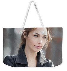 Gal Gadot Art Weekender Tote Bag by Best Actors