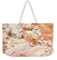 Weekender Tote Bag featuring the photograph Multicolored Sandstone In Valley Of Fire by Ray Mathis