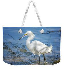 Snowy Egret Weekender Tote Bag by Tam Ryan