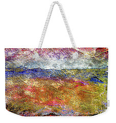 39a Abstract Landscape Sunset Over Wildflower Meadow Weekender Tote Bag