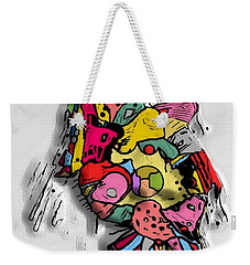 Weekender Tote Bag featuring the digital art 3d Popart By Nico Bielow by Nico Bielow