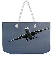Weekender Tote Bag featuring the photograph Airbus A350 by Shirley Mitchell