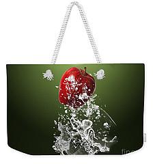 Apple Splash Weekender Tote Bag