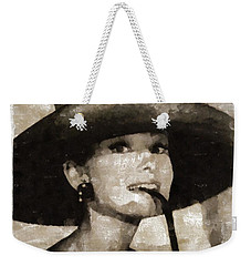 Audrey Hepburn Hollywood Actress Weekender Tote Bag by Mary Bassett
