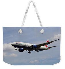British Airways Boeing 777 Weekender Tote Bag