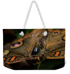 Weekender Tote Bag featuring the photograph Butterfly by Jay Stockhaus