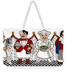 4 Chefs Weekender Tote Bag by John Keaton