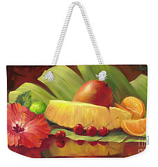 4 Cherries Weekender Tote Bag by Laurie Hein