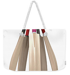 Cricket Bat Circle Weekender Tote Bag