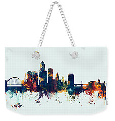 Des Moines Iowa Skyline Weekender Tote Bag