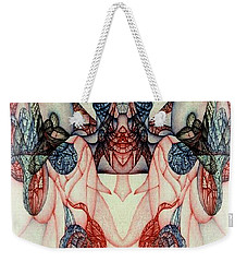 Weekender Tote Bag featuring the drawing Digitized Ballpoint by Jack Dillhunt
