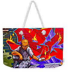 Weekender Tote Bag featuring the photograph East Village Street Art 2014 by Joan Reese