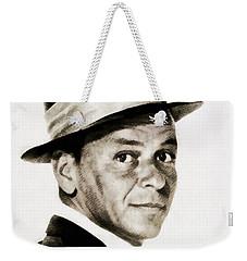 Frank Sinatra, Vintage Hollywood Legend Weekender Tote Bag by John Springfield