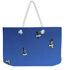4 Geese In Flight Weekender Tote Bag