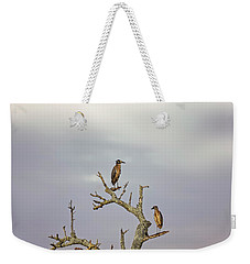 Green Heron Weekender Tote Bag by Peter Lakomy