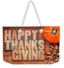 Happy Thanksgiving Greeting Card Weekender Tote Bag